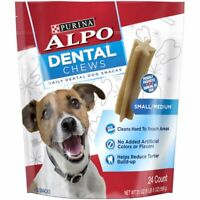 Purina ALPO Made in USA Facilities Small/Medium Dog Dental Chews Dog Snacks -...