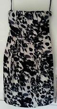 NEW LOOK Animal Print Strapless Party Holiday Knee Length Dress Size 10 BNWT