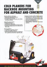 Simex PLB 300 450 600 Cold Planers for Backhoe Mounting  brochure Prospekt 9/02