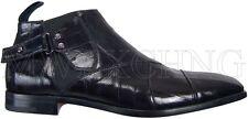 Cesare Paciotti US 7 Signature Eel Ankle Boots Italian Designer Shoes