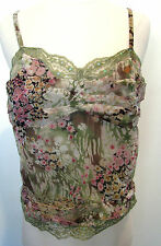 ECI NEW YORK Multicolored Sleeveless 100% Silk Top With Sequins Size 6, NWT