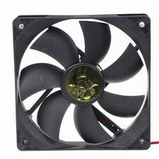PC Case 12V 4 Pins 12cm 120mm 120x120x25mm Cooler Cooling Fan Ball Bearing Black