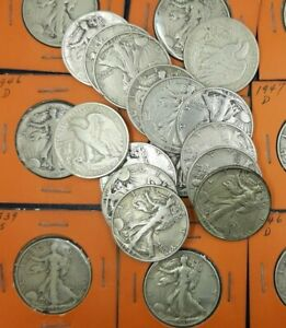 1 EACH WALKING LIBERTY HALF DOLLARS 90% SILVER NICELY CIRCULATED CHOOSE HOW MANY