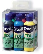 6 x 80ml Stoffmalfarbe Textilfarben Textilmalfarben Stofffarben SET Stoff Textil