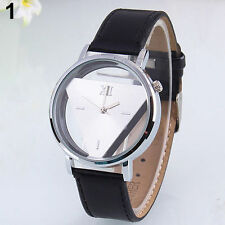 Ladies Fashion Silver Dgjud Quartz Silver Triangle Hollow Faced Wrist Watch.