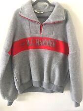 Vintage 90's M C Hammer Fleece Pull over Jacket Hip Hop XL Capitol Records