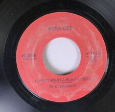 Pop Promo Nm! 45 R.C Bannon - I Don'T Wanta Play Games / Freedom On Aura-Cee
