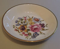 Royal Worcester C51 trinket pin dish floral gilded bone china gift
