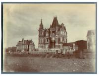 France, Villas en Normandie  Vintage albumen print Tirage albuminé  8,5x11,5