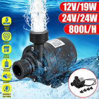 19/24W 12/24V Submersible Water Pump Fish Tank Aquarium Pond Fountain Spout Pump