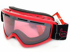 BOLLE medium fit SCHUSS Ski Snow Goggles SHINY PINK / Vermillon Gun CAT.2  21484