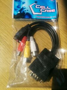 New VGA to Video TV Out S-Video AV and 3 RCA Female Converter Cable Adapter