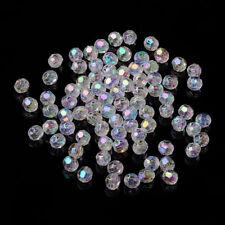 100pz  perline  Acrilico 6mm colore trasparente AB bijoux