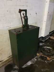 Vintage Oil Dispenser Pump tank, use for display, garage shed etc
