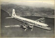 Cartolina Aviazione - Aereo in Volo DC-7C Seven Seas Alitalia - Non Viaggiata