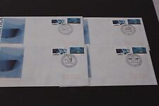 AUST 1990   AAT SCIENTIFIC C0-OPERATION SET OF 4 BASE STATION FIRST DAY COVERS