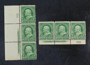 CKStamps: US Stamps Collection Scott#279 Strip Mint 2NH 1H OG Each