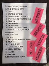 Roger Waters setlist + confetti Moscow show 31/08/18 Pink Floyd