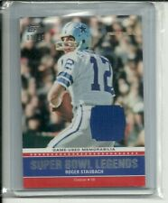 2011 Topps Super Bowl Legends ROGER STAUBACH Jersey Patch 03/45  DALLAS COWBOYS