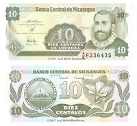 Nicaragua 10 Centavos 1991 P-169 Banknotes UNC