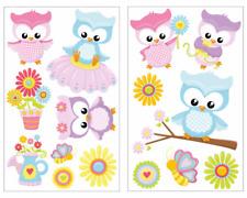 15-tlg Süße Eulen Wandtattoo Set Kinderzimmer Babyzimmer Aufkleber Sticker