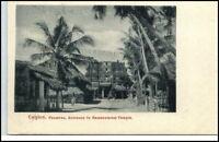 CEYLON ~1900 Litho Paumben Rameswaram Temple Vintage Postcard Asien Asia