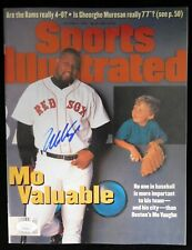 Mo Vaughn Boston Red Sox Signed Sports Illustrated Magazine JSA Authenticated