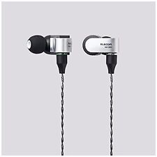 New listing Elecom Ehp-R/Hh1000A Sv Hi-Res In-Ear Headphones/Headset Switchable Silver New