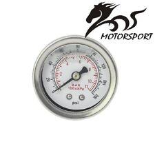 Fuel Pressure Regulator gauge 0-160 PSI / bar Liquid Fill chrome fuel/oil Gauge