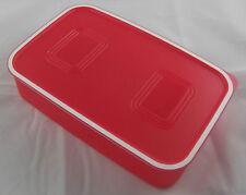 Tupperware A 153 Quadro Dose 1,1 l flach Rot Neu OVP