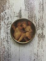 Vintage Pill Box with Angels Paiting