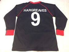 Exeter City Hargreaves No9 Away Black SHO Football Shirt Boys Size 34 Inch Chest