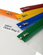 Snopake A4 Plus 370 x 260 mm Zippa Bag S with Zip Strips - Assorted, Pack of 5