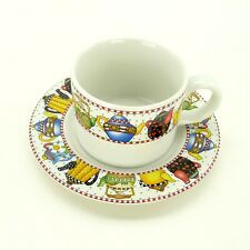 Mary Engelbreit At Home Sakura Pattern Cup And Saucer Set