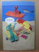 Vintage Poster Gumby Pokey 1985 TV series Beach Inv#G2876