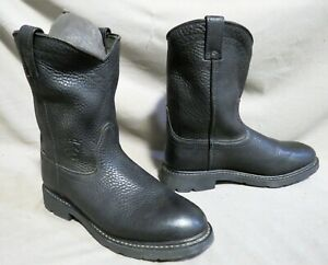 MENS ARIAT BLACK LEATHER COWBOY HIKING WORK RODEO BOOTS SZ 11 EE