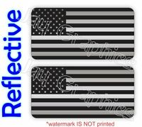 REFLECTIVE American Flag Black Ops Hard Hat Stickers <> Decals Stealthy Flags