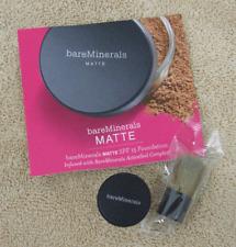 id bare Escentuals Minerals Matte Foundation Medium Beige Sample Baby Buki Brush