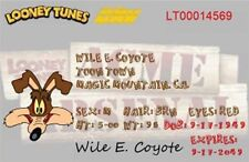 """Wile E. Coyote Drivers License. 2 1/2"""" X 4"""" Fridge Magnet. Looney Tunes"""