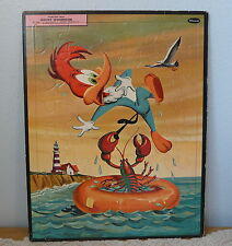 Vintage 1959 Walter Lantz Woody Woodpecker Whitman Frame Tray Puzzle