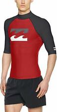 BOYS BILLABONG TEAM WAVES RASH VEST - RED - AGE 14 - BNWT