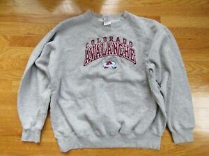 Vintage Sports Attack Label - COLORADO AVALANCHE Embroidered (XL) Sweatshirt