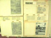 7 Vintage SURFtoons Original Production Art Paste up Boards July 1968 petersen