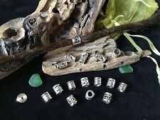 Dreadlock Beads **Super MINI Mix Pack**  16 x Silver Dread Beads 4-5mm Hole Cute