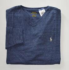 NWT Men's Ralph Lauren Long-Sleeve Tee, T-shirt, Navy Blue, L, Large