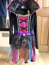 Girls Age 10-11 Evil Queen, Witch, Party, Halloween, Dressing Up Costume + Tiara