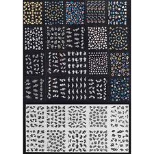 30 Sheet 3D Mix Color Floral Design Nail Art Stickers Decals Manicure Decor