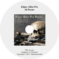 The Ultimate Collection of Edgar Allan Poe 48 Poems Romance Horror Audio Book CD