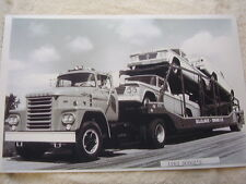 1963 DODGE PICKUP ON DODGE TRUCK CARRIER 11 X 17 BIG   PHOTO   PICTURE