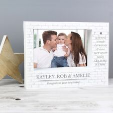 Personalised Family 7x5 Box Photo Frame, New Home, Mothers Day, Fathers Day